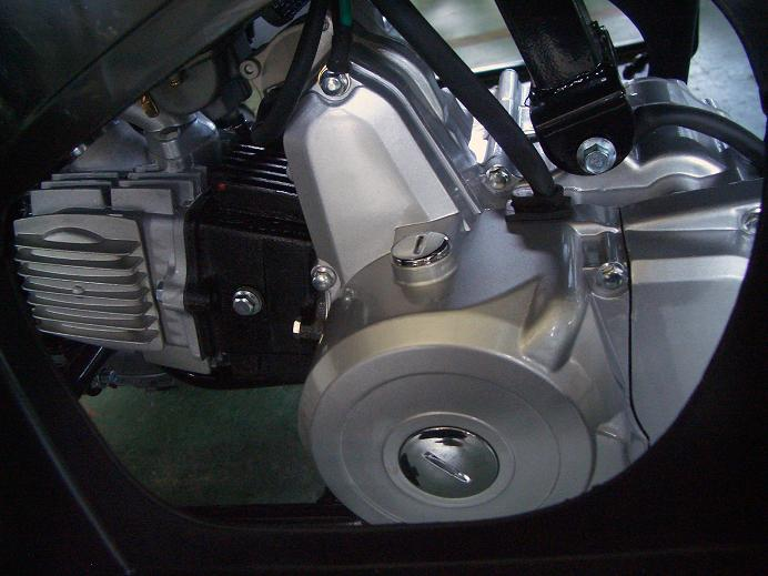 Left side engine view