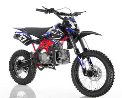 Blue 125cc Apollo dirt bike