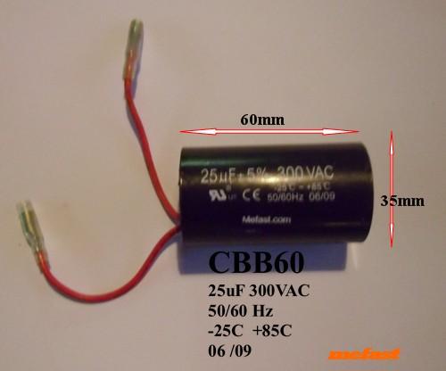 CBB60 300VAC 25uF