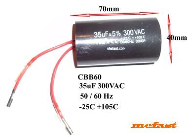 CBB60 300VAC 35uF Capacitor