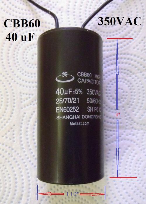 CBB60 40uF 350VAC