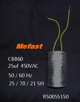 CBB60 25uF 450VAC mefast capacitor