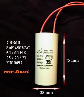 8uF 450VAC CBB60