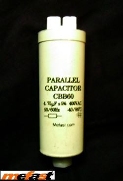 Parallel Calacitor CBB60 400VAC 4.75uF