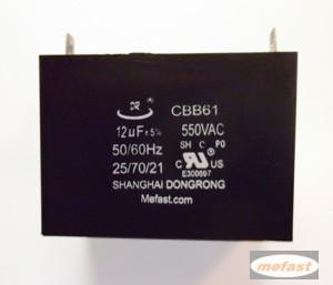 CBB61 12uF 550VAC capacitor