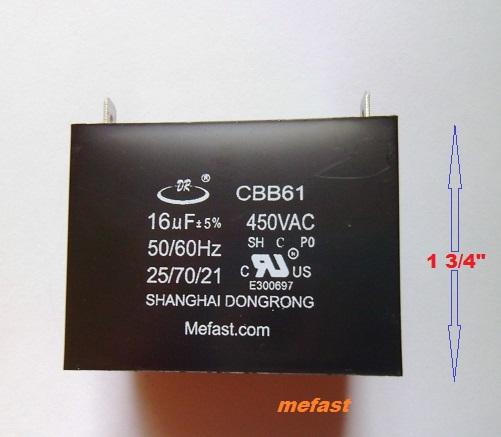 16uF 450VAC Capacitor CBB61