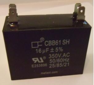 Pool Pump Capacitor                 CBB61 16uF 350VAC 4 terminal