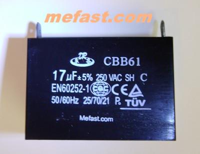Capacitor CBB61 17uF 250VAC