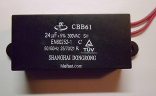 CBB61 24uF 350VAC capacitor wired