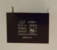 CBB61 24uf 450VAC Capacitor