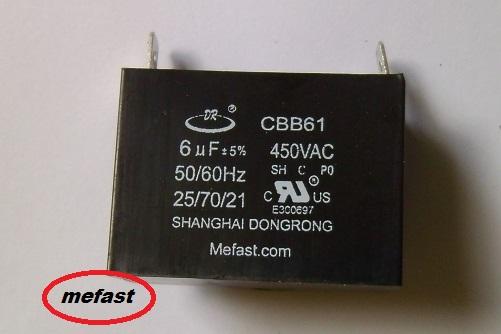 CBB61 6uF 450VAC
