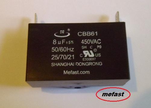 CBB61 8Uf 450VAC