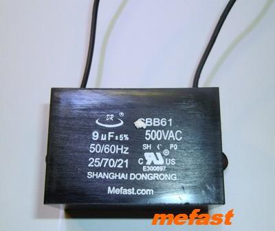 CBB61 Capacitor 9uF 500VAC wired