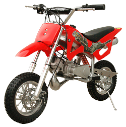 QG-50 Mini Dirt Bike 49cc Fully                     Auto Mini 2-Stroke Pull Start