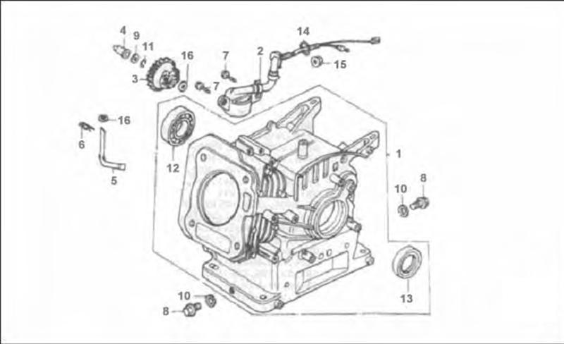 JF200 Diagram Cylinder Crankcase