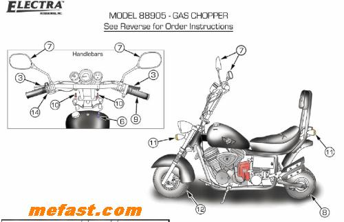 harley mini chopper 49cc scooter wiring diagram  harley