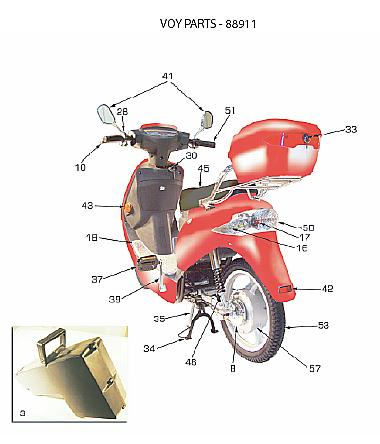 VOYPARTS electra voy 88911 parts and owners manual tire, control module Basic Electrical Wiring Diagrams at alyssarenee.co