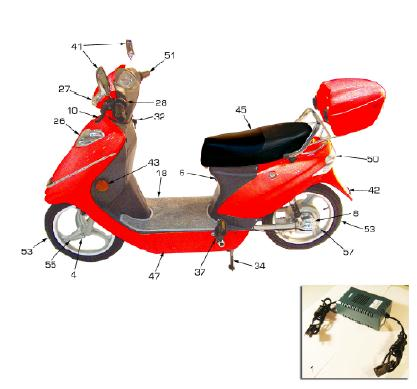 voy scooter parts diagram voy scooter wiring diagram 36v