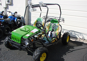 125cc Go Kart Green and yellow