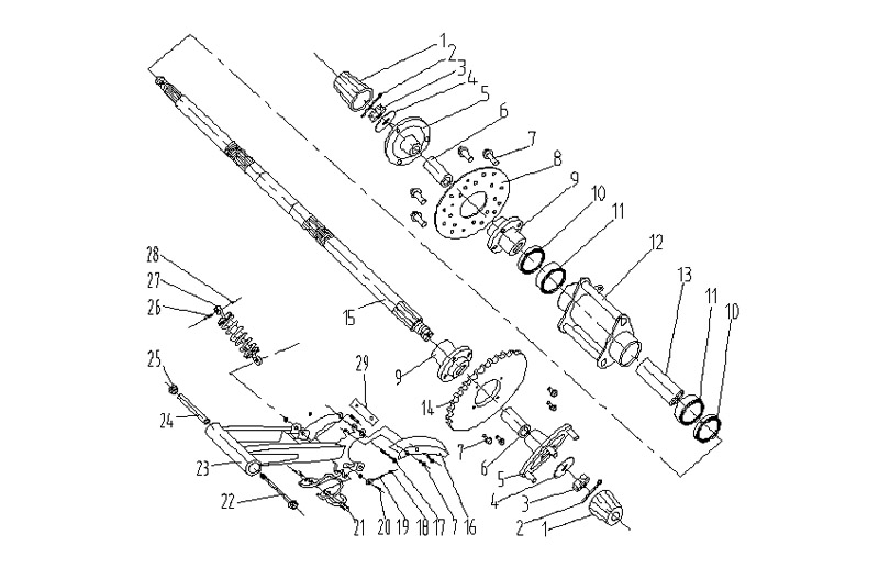 110cc Atv Ga004 2 Parts Axle