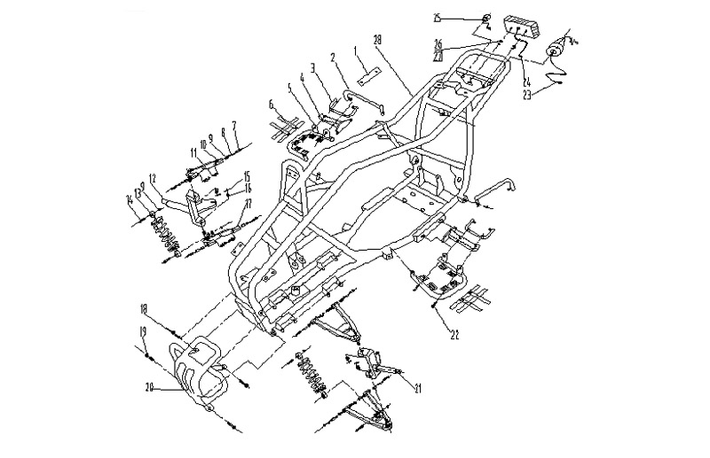 Atv Frame Diagram on chinese atv frame parts diagram