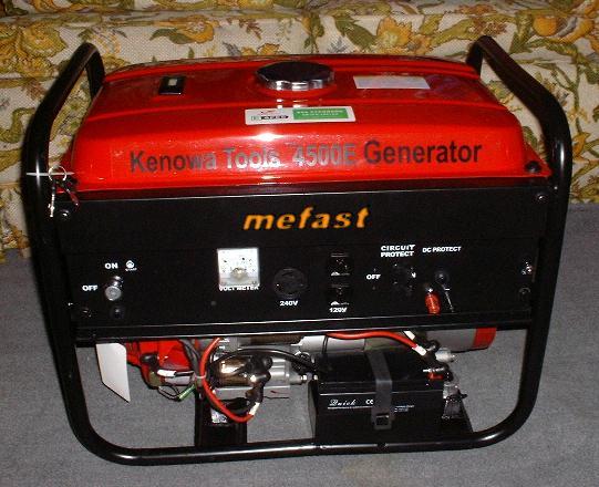 Kenowa Tools 4500 Watt Portable Generator With Electric Start