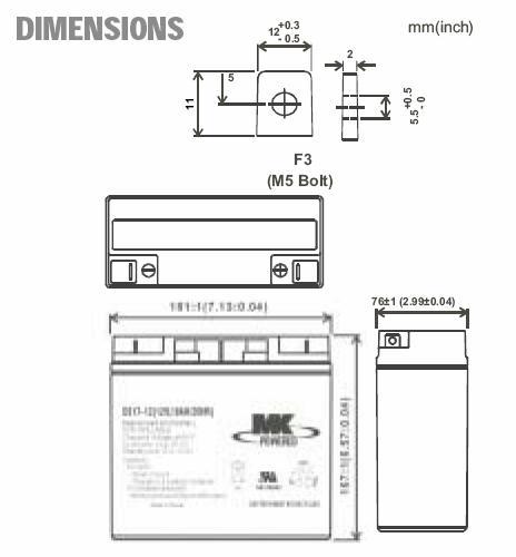 ES17-12  12v Battery