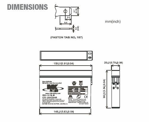 ES2-12SLM 12 Volt Battery