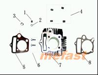 110cc Cylinder Assembly