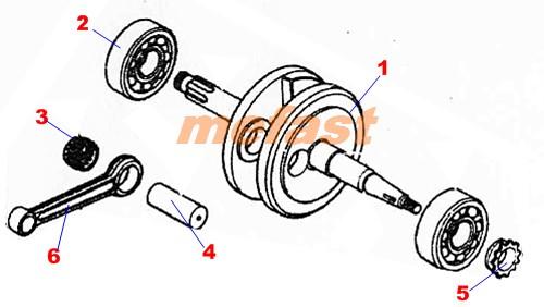 Crankshaft 110cc Parts Diagram
