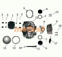 110cc head diagram