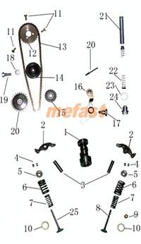 110cc Timing parts diagram
