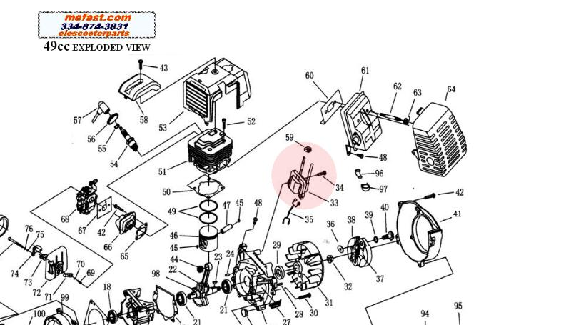 49cc Moped Engine Diagram on 50cc Go Kart Motor Carburetor