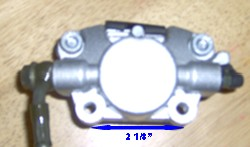 Foot operated brake caliper