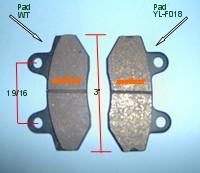 YL-f018 brake pad