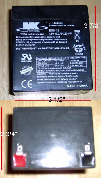 ES5-12 12V-5.0AH/20HR