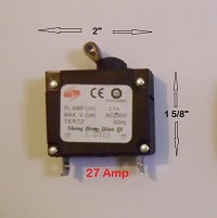 Sheng 27 Amp Generator Circuit Breaker