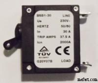 30A circuit breaker 37.5 trip amps