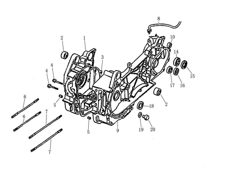 Gy6 150cc Right Crankcase Parts