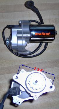 50-125cc Lower mount electric starter