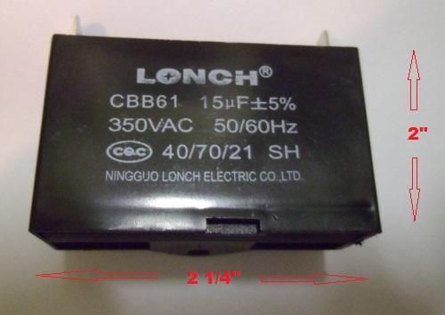 15uF 350VAC Capacitor