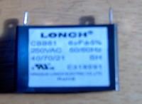 CBB61 Capacitor 6uF 350VAC