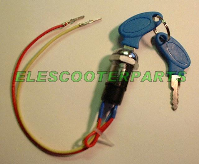 Electric scooter key switch