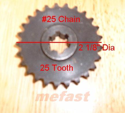 NO. 25 25 tooth sprocket