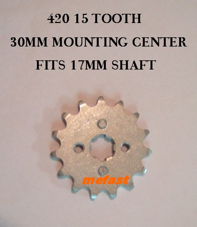 420 Sprocket 15 tooth