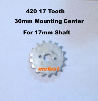 420 Sprocket 17 Tooth