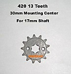 420 13 Tooth 17mm shaft