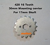 420 16 tooth 17mm shaft