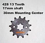 428 13 17mm shaft