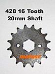 428 16 Tooth 20mm shaft